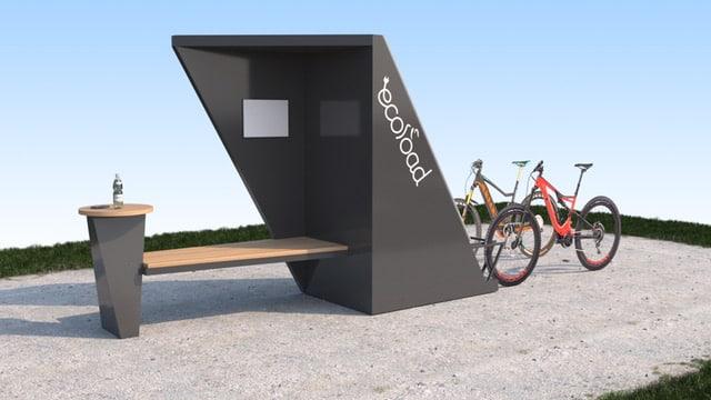 Origami, station de recharge solaire écoresponsable, ville et campagne, pour VAE, trottinette électrique, scooter électrique et recharge de téléphones portables