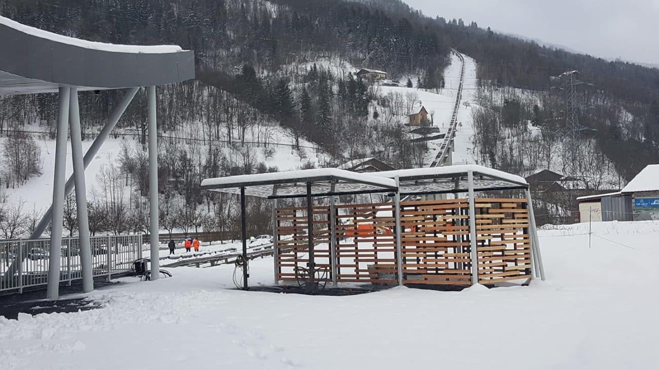 Station de recharge Canopée semi-fermée Bourg-Saint-Maurice/Les Arcs
