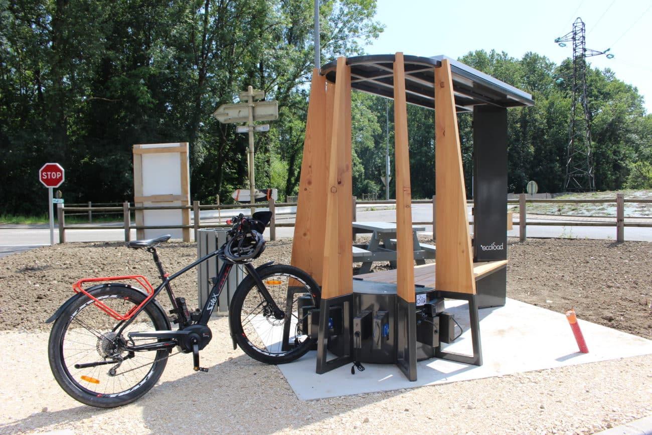 Station de recharge solaire le long de la ViaRhôna