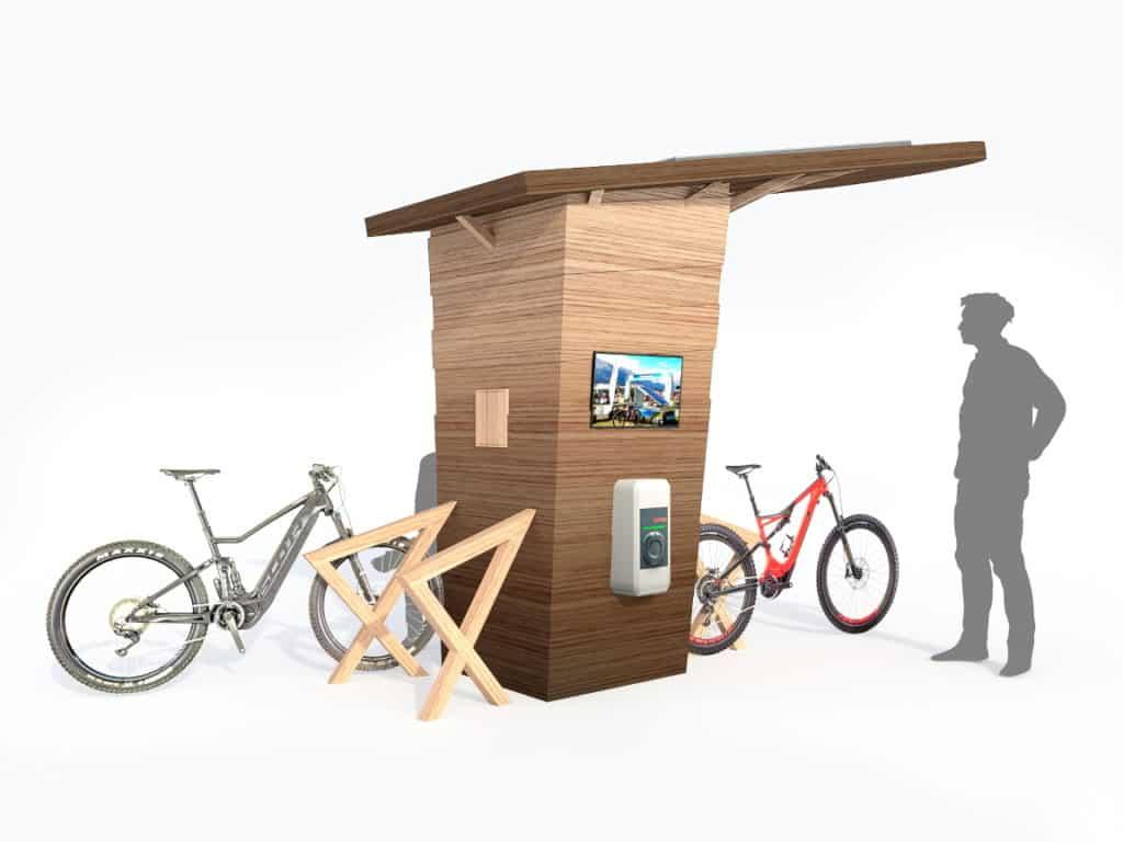 Ecostation de recharge solaire multifonctions