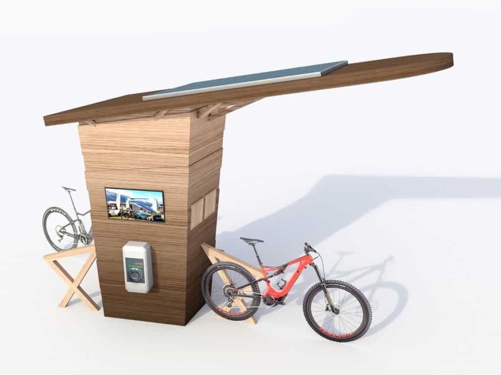 Ecostation de recharge solaire multiservices
